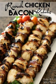 Ranch Chicken Bacon Kabobs - oh yes! Perfect for a game day or just about any occasion! Chicken, bacon: https://www.zayconfoods.com/campaign/14