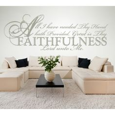 All I Have Needed Thy Hand Hath Provided, Great... Quote Wall Sticker - Religious Quotes - Wall Quotes