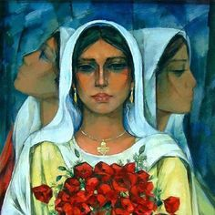 Art   painting by Ismail Shammout  a Palestinian artist