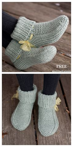 Amazing Knitting provides a directory of free knitting patterns, tips, and tricks for knitters. Knitted Socks Free Pattern, Baby Booties Knitting Pattern, Crochet Slipper Pattern, Knitted Booties, Knitted Slippers, Sweater Knitting Patterns, Loom Knitting, Knitting Socks, Free Knitting