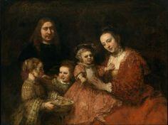 Rembrandt van Rijn, The Family Portrait on ArtStack #rembrandt #art