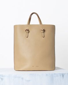 Style - Minimal + Classic: CELINE TWISTED HANDBAG IN NATURAL CALFSKIN CHAMOIS