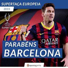 O ApostaGanha felicita o FC #Barcelona pela conquista da #UEFAsupercup O que achaste da partida de hoje? É um vencedor justo?   #SuperCup #LionelMessi #apostas #futebol #soccer #footy #football #futbol