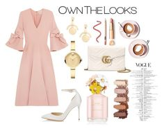 """""""Own The Look"""" by ayataklas on Polyvore featuring Lele Sadoughi, Jimmy Choo, Movado, Roksanda, Marc Jacobs, Gucci and Martha Stewart"""