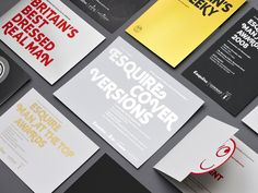 Fonts used: Display font custom drawn for Esquire by BP foundry, Mercury and Akkurat