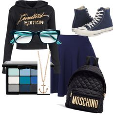 Designer Clothes, Shoes & Bags for Women Cute Nerd, Nyx, Moschino, Polyvore Fashion, Converse, Shoe Bag, My Style, Stuff To Buy, Fashion Design