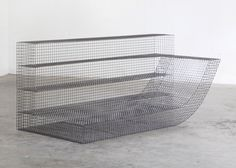 Belgian design studio Muller van Severen has crafted curving loungers from wire netting as part of a furniture commission for the Solo Houses Top Furniture Stores, Patio Furniture Sets, Sofa Furniture, Online Furniture, Furniture Design, Furniture Ideas, Washbasin Design, Small Accent Chairs, Minimalist Furniture