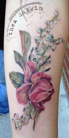 More Thea Duskin.  Light shading with color, nature, beautiful tattoos.  Tattoo | Ghostprint Gallery
