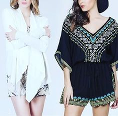 Our designer outfits! ✖️▪️#aztec #romper #white #cardigan #geometric #geo #animalprint #pattern #designerclothes #fashion #fashionblog #fashionista #designers #black #tribal #lookbook #look #ootd #hautecouture #cute #photooftheday #instagood #love #fashionaddict #womensfashion #fashionweek #nyfw #travel #sightseeing #tradingmekka