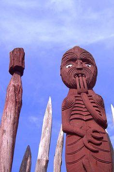 Maori Carving, Hamilton, Waikato / Taalreis Nieuw-Zeeland