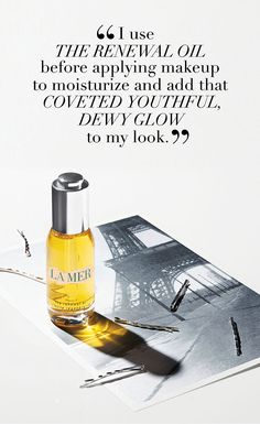 The Renewal Oil is a sensorial sensation. Beauty Ad, Luxury Beauty, Beauty Make Up, Beauty Hacks, Spa Logo, Graphic Design Layouts, Email Design, Face Oil, How To Apply Makeup