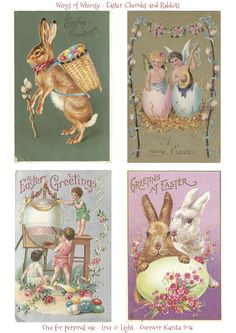 Easter Cherubs & Rabbits
