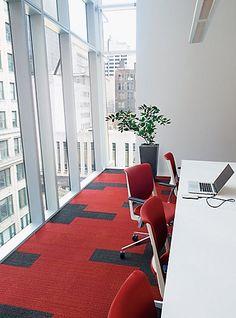 On Line / Interface Carpet Tile / Office Design