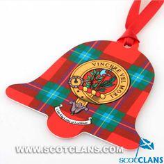 MacLaine Clan Crest Christmas Ornament