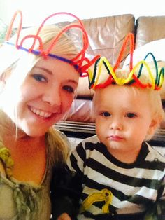 Crowns out of pipe cleaners