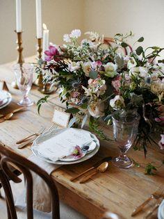 romantic folksy tablescape