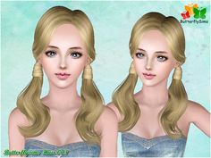 Female-Hair073 - Hairstyles - B-fly - Provide personalized hairstyle to Sims game player