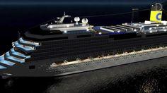 3D Costa Concordia sinking - L'affondamento