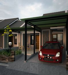 House Design Exterior Car Garage 37 Ideas For 2019 Paint For Kitchen Walls, Carport Designs, Mirror House, Building A Porch, Beautiful Dining Rooms, Canopy Design, House With Porch, House Entrance, Plan Design
