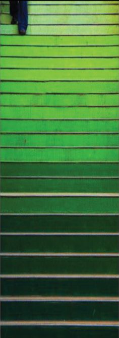 emerald ombre staircase #ilovelenox  Lenoxusa