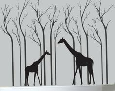 wall decal- african safari themed bedroom gray - Google Search