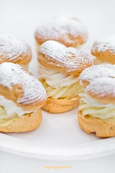 choux pastry with vanilla custard and whipped cream