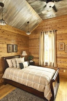 Decorating with Corrugated Tin | Bedroom Design Ideas, Pictures, Remodels and Decor