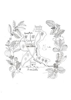 Wedding map, design by Ryn Frank www.rynfrank.co.uk