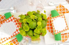 Styled Shoot: Tangerine Tango + Lime // images by Twila's Photography