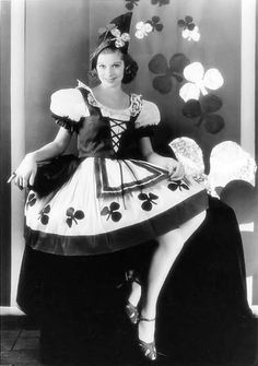 Lucille Ball getting ready for St. Patrick's Day