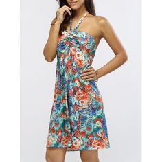 SHARE & Get it FREE   Halter Neck Ruched Floral Print DressFor Fashion Lovers only:80,000+ Items·FREE SHIPPING Join Dresslily: Get YOUR $50 NOW!