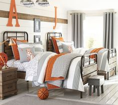 Owen Beds - PBK (iron and reclaimed pine)  http://www.potterybarnkids.com/products/owen-bed/
