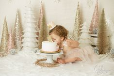 baby's 1st birthday, Smash Cake Session, Orange County baby photographer, Smash Cake Session, winter one-der-land theme, first birthday, one year old portrait session, holiday, christmas, winter, 1st birthday, party, decor, design, Orange County, CA photographer, GilmoreStudios.com