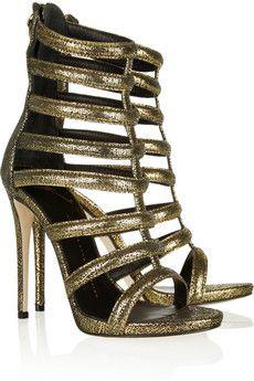 67be4920200cc Giuseppe Zanotti Metallic Suede Gladiator Sandals Gladiator Shoes