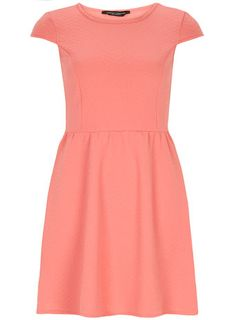 Coral textured dress - Dresses $35 and under  - Dresses