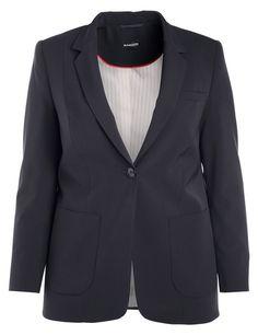 Een zakelijke blazer die uw hoge normen van comfort en stijl vertegenwoordigt! Figuurlijke 1-knoop stijl met revers, borst paspelzak, split op de rug ... Bekijk op http://www.grotematenwebshop.nl/product/hoogwaardige-zakelijke-blazer-2/