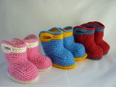 Knitting Pattern Baby Booties SPLISH SPLASH SPLOSH от LoveFibres