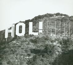 """The Hollywood Sign under construction, The sign was first erected in 1923 and originally read """"HOLLYWOODLAND"""". It's purpose was to advertise the name of a new housing development in the hills above the Hollywood district of Los Angeles, California Famous Buildings, Famous Landmarks, Hollywood Sign, Old Hollywood, Classic Hollywood, Hollywood Homes, Hollywood Glamour, Under Construction, Construction Business"""