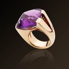"""""""Cuscino"""" (Pillow) ring in rose Gold and Amethyst  by Vhernier Milano"""