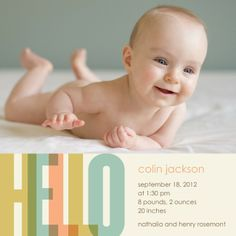 Chic Introduction : Dijon  Boy Photo Birth Announcements   Designer:  Good on Paper
