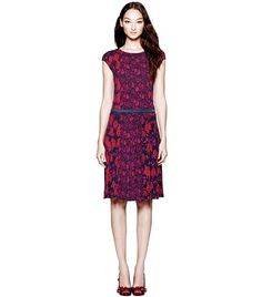 An easy-to-wear silhouette and graphic floral print make the Tamia Dress a versatile day-to-evening style. It's made of soft crepe jersey, with demure cap sleeves and a feminine pleated skirt, designed for a relaxed fit that still defines the waist. Pair it with opaque tights and a pump for a day at the office or evening cocktails.Style Number: 41122421 $325