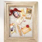DIY Scrapbook Frame with mementos