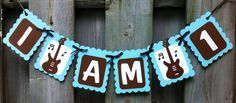 I am 1 Rock and Roll Theme High Chair Banner, Rock Theme birthday ideas, Party Decorations, First Birthday Decor