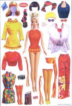 Mod Barbie - flavia - Picasa Web Albums * 1500 free paper dolls at Arielle Gabriels The International Paper Doll Society also free Asian paper dolls at The China Adventures of Arielle Gabriel *Barbie - (CL for 2 dolls & clothes)barbie came out. Barbie Paper Dolls, Vintage Paper Dolls, Vintage Barbie, Paper Toys, Paper Crafts, Paper Dolls Printable, Barbie Friends, Barbie And Ken, Barbie Patterns