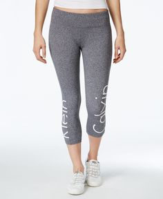 Calvin Klein Performance Logo Cropped Leggings