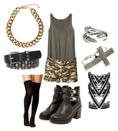 """f(x) - Red Light"" by clemerina ❤ liked on Polyvore featuring H&M, Forever 21, Boohoo and Club Manhattan"