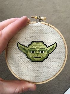 A personal favorite from my Etsy shop https://www.etsy.com/listing/385080676/cross-stitched-yoda