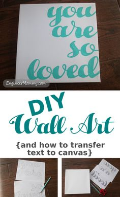 Looking for a fun way to create a cute DIY art that you can use in your home decor? Check out my tutorial for how to transfer text to canvas.