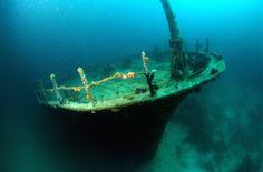 Remnants of a shipwreck