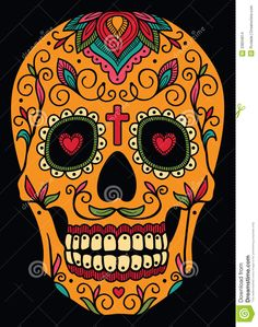Find Mexican Sugar Skull stock images in HD and millions of other royalty-free stock photos, illustrations and vectors in the Shutterstock collection. Sugar Skull Halloween, Sugar Skull Costume, Sugar Skull Makeup, Halloween Halloween, Vintage Halloween, Halloween Makeup, Halloween Costumes, Sugar Skull Stencil, Sugar Skull Painting
